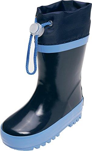 Playshoes Basic Gefüttert Mit Reflektoren, Bottes de Pluie mixte enfant Bleu Marine
