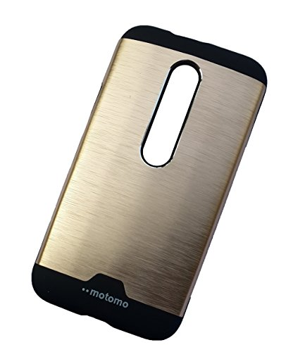 Motomo Metallic Protective Hard Back Case Cover for Motorola Moto G3 / Moto G (3rd Gen) - Gold