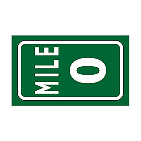 CafePress - Mile 0 Stickers Sticker (Rectangle) - Rectangle Bumper