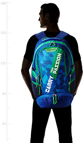 Best supreme backpack in India 2020 Genius Nylon 39 Ltrs Blue Trekking Backpack (Supreme Blue 52) Image 5