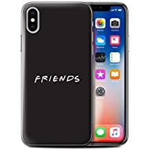 Stuff4 Phone Case/Cover for Apple iPhone X/10/Art/Black Design/Funny Sitcom TV Parody Collection