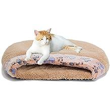 MiLuck Cama de gato para mascotas Gato Saco de dormir Suave cálido a prueba de viento