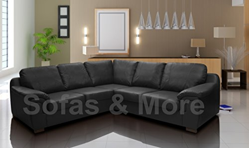 Black Leather Corner Sofa Amazoncouk - Black leather corner sofa