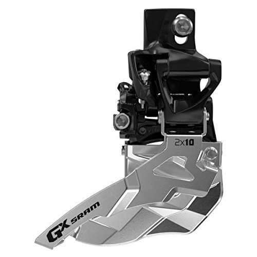 Sram GX 2x10 High Direct Mount, 38/36T, Bottom Pull Umwerfer, schwarz/Silber, 20 x 10 x 10 cm -