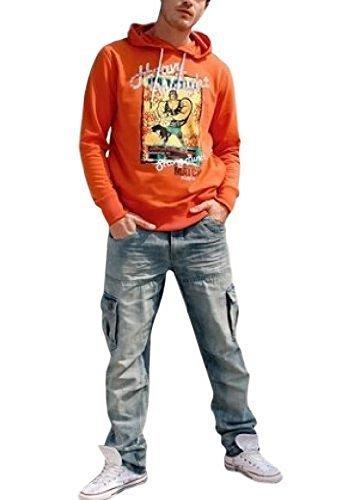 Pflegeleichtes Sweatshirt für den Herren - Farbe Orange Orange
