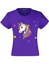 fe9c02a68f250 Unicorn T-Shirt Filles Enfants Licorne T Shirt Tee 3 à ...