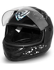 Helm Kinderhelm Fullface Integralhelm Motorradhelm Full Face Helmet Schwarz