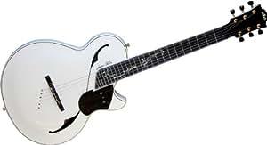 Guitares électriques LAG S3000JFL WHITE SIGNATURE 3000 JEAN FELIX LALANNE Demi-caisse