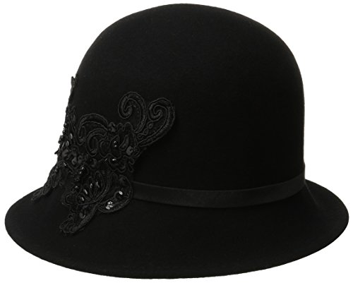 san-diego-hat-company-womens-wool-felt-cloche-hat-with-sequin-lace-aplique-trim-black-one-size