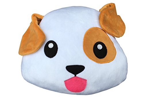 Emoji - Dog Puppy Plush - Pillow Cushion - 32cm 13""