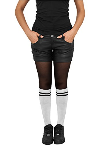 Ladies College Socks wht/blk 40-42 (Socken Knie-hohe Baumwolle)