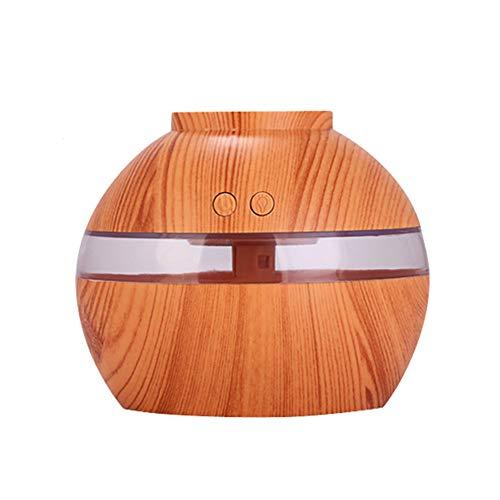 Cinhent ⭐ Holzmaserung Luft Aroma Ätherisches Öl Diffusor LED Ultraschall Aromatherapie Luftbefeuchter 300 ml (Luftbefeuchter Platz Filter)