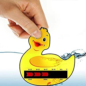 Duck Baby Bath Thermometer Card With New Moving Line Technology - Ensure baby's bath is not too hot or uncomfortably cold.