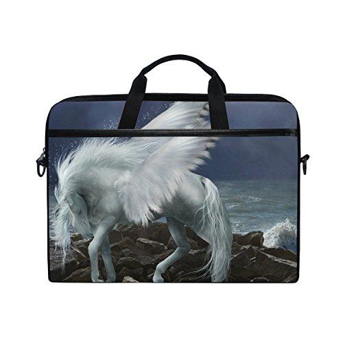 Ahomy Pferd Pegasus Wave Moon 35,6–39,1cm Multifunktional Stoff Wasserdicht Laptop Tasche Aktentasche Schultertasche Messenger Bag