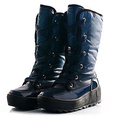 RTRY Scarpe Da Donna In Nylon Di Velluto Autunno Inverno Fodera Fluff Snow Boots Scarponi Sci Ginocchio Scarpe Stivali Alti Per Lavoro All'Aperto &Amp; Sicurezza Blu Rosso US5 / EU35 / UK3 / CN34