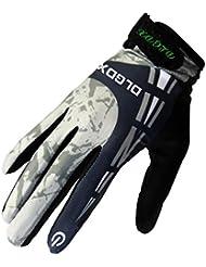 Caracol guantes de moto la primavera y el oto?o de conducci¨®n al aire libre a largo deslizamiento del dedo respirable de los guantes llenos del dedo tocan los guantes para los hombres y las mujeres