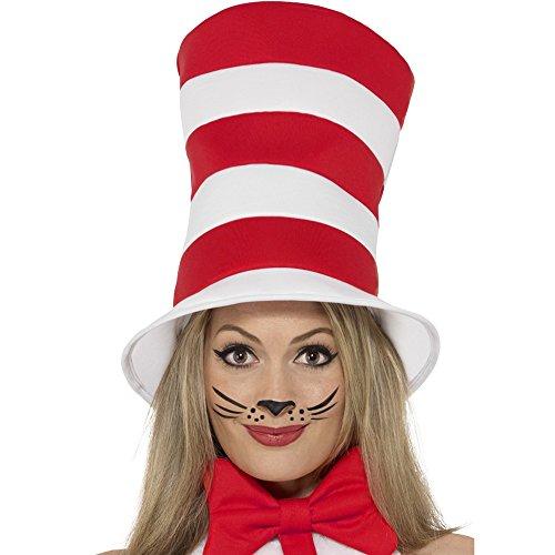 Smiffy's 42920 - Katze im Hut - Adult Hat (Katze Im Hut Damen Kostüm)