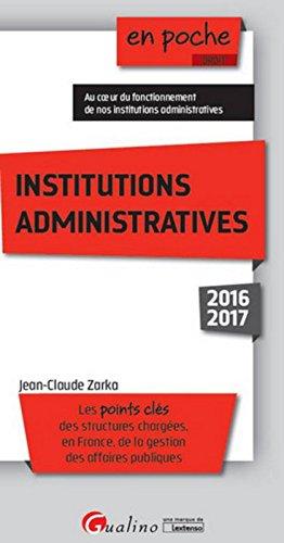 Institutions administratives 2016-2017, 3ème Ed.
