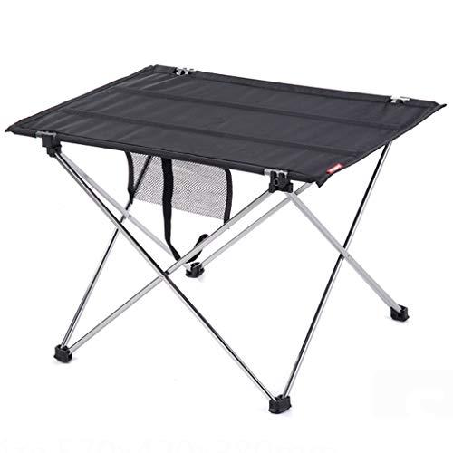 Tables de pique-nique Table Barbecue Camping en Plein Air Table Pliante en Métal Table D'extérieur Table Pliante Portable Noir Bureau À Domicile