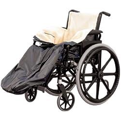 Homecraft, protège-jambes, taille standard, couverture doublée, polaire et nylon, fermeture éclair avec anneau de traction, châleur et confort garantis, accessoire pour tout type de fauteuil roulant.