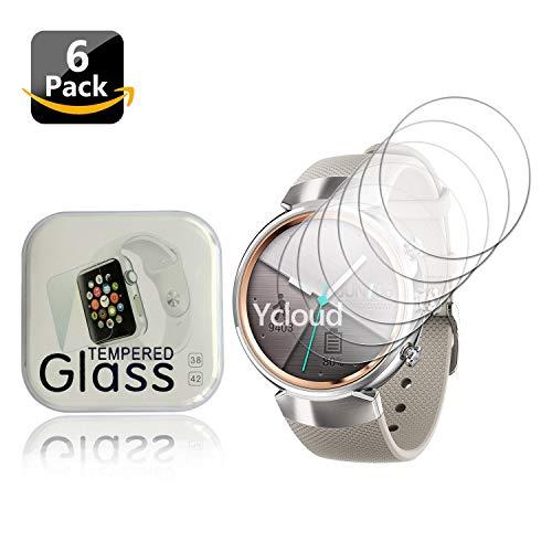 Ycloud [6 Stück PET Schutzfolie Bildschirmschutzfolie für ASUS Zenwatch 3 Smartwatch HD klar Flexible Folie mit Anti-Kratzer Blasenfrei