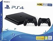 PlayStation 4 - konsola (500 GB, czarna, slim) + drugi kontroler DualShock 4