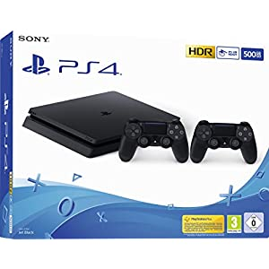 PlayStation 4 – Konsole (500GB, schwarz, E-Chassis) inkl. 2. DualShock Controller