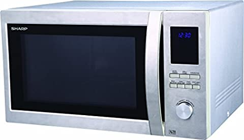 Sharp R982 Combination Oven Microwave, 42 Litre,1000 W, Stainless Steel