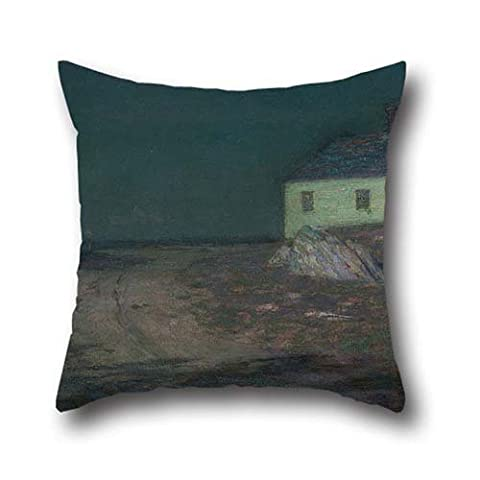 Oil Painting Harrison, Birge - The Harbor Light Pillowcover ,best For Kids,couch,teens,outdoor,play Room,dance Room 20 X 20 Inches / 50 By 50 Cm(twin Sides)