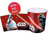 Star Wars Stormtrooper Darth Vader Papierkorb Mülleimer Kunststoff Abfalleimer Eimer (Darth Vader)