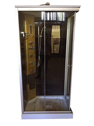 Dusche Duschkabine Duschtempel Duschabtrennung Fertigdusche Eckdusche Komplett Portofino - 2