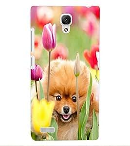 ColourCraft Cute Puppy Design Back Case Cover for XIAOMI REDMI NOTE 4G
