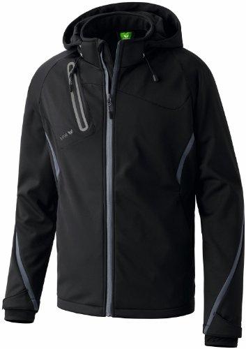 ERIMA Herren Softshelljacke Function mit abnehmbarer Kapuze, Handstulpen und seitlichen Reißverschlusstaschen
