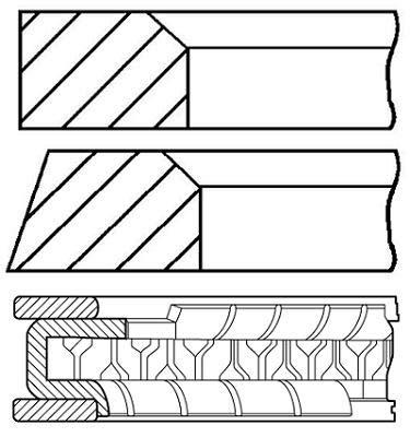 Goetze Engine 08 - 154200 - 00 Set de bagues de Piston