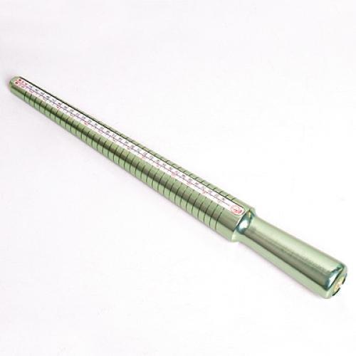 Aluminum Ringstock Ringmaß hellgrün neu Top Qualität