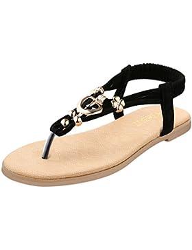 ZOEREA delle ragazze delle signore di estate delle donne piatto Infradito sandali merletto in rilievo scarpe piatte...