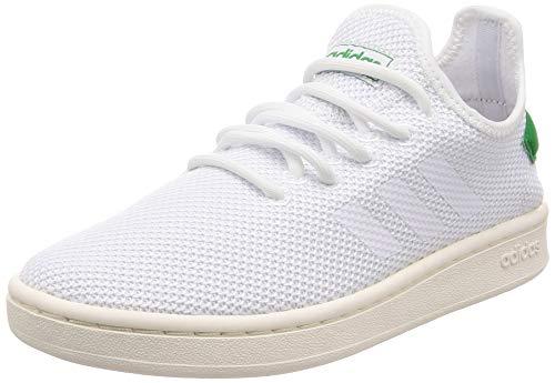 adidas Court Adapt, Scarpe da Tennis Uomo, Bianco Ftwbla/Verde 000, 42 EU
