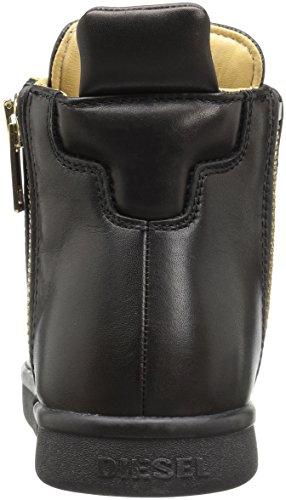 Diesel Stivaletto Uomo Nentish Sneaker Alta Men Zip leather Black Gold Oro nero