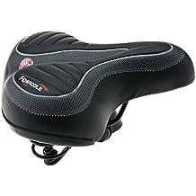 ENET - Sillín para Bicicleta (Ancho y Suave, con muelles), Color Negro