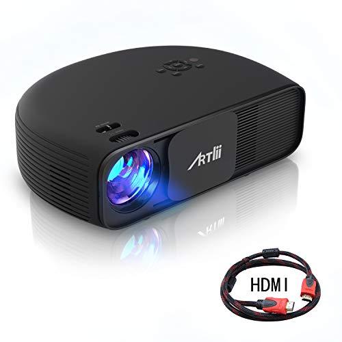 """Artlii Proyector HD Ready, 3200 Lúmenes, Consigue una Imagen de 120"""", Soporte 1080P & 2 x HDMI, para TV Stick, Tablets & Ordenador Portátil & PS4 & Xbox y Más"""