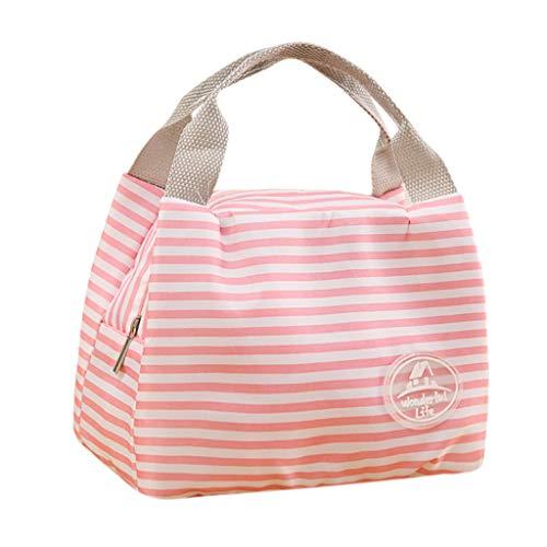 KonJin Lunch Tasche Isoliertasche zur Arbeit Schule Faltbar Wasserdicht Reißverschluss Mittagessen Isoliertasche Thermotasche für Arbeit und Schule