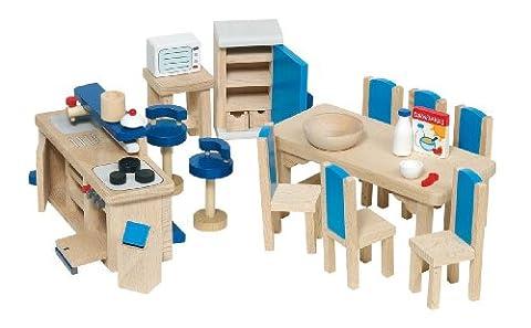Goki - 51907 - Mobilier de cuisine pour maison de poupées - 30 pièces
