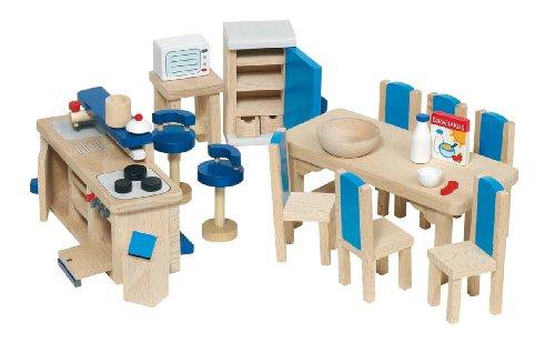 Goki 51907 - Küche, 30-teilig, Puppenhausmöbel