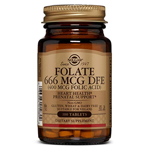 Solgar Folacín (ácido fólico) 400 µg Comprimidos - Envase de 100