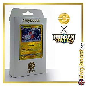 Electrode 22/68 Holo Reverse - #myboost X Sun & Moon 11.5 Hidden Fates - Box de 10 cartas Pokémon Inglesas