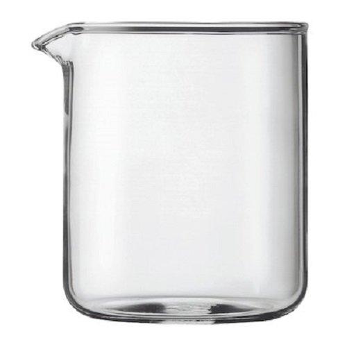 Bodum Boccale di ricambio per caffettiera French press da 4 tazze, 0,5 l, diametro: 9,6 cm, altezza: 12,5 cm