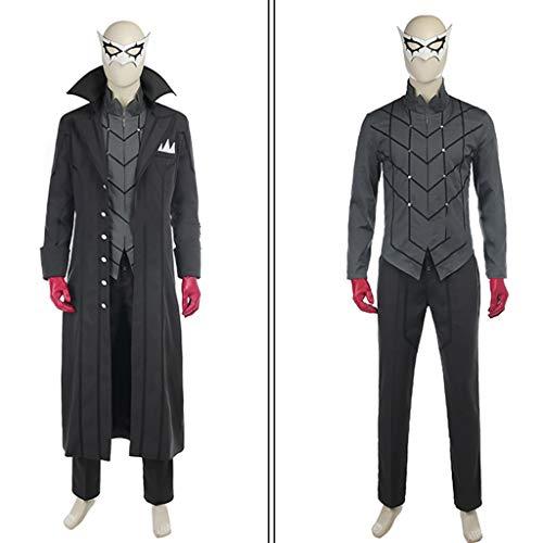 Dieb Männer Kostüm - nihiug Poseidon 5 Spiel Phantom Dieb Anime Cosplay Kostüm benutzerdefinierte Männer COS Kleidung Anzug,Black-XS(158to162)