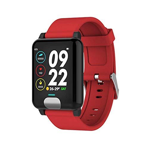 Bbiao Activity Tracker Smart Watch EKG + PPG Smart Armband Fitness Tracker Pulsmesser Blutdruck Uhr Smart Armband für iOS Android,rot