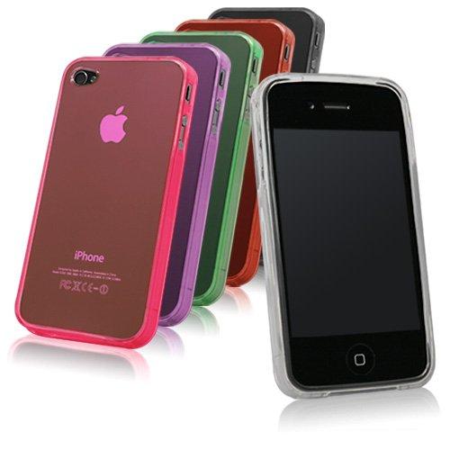 BoxWave Pure iPhone 4 CRISTAL-dérapant Gris fumé