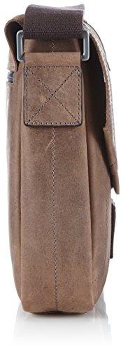 Strellson Hunter Messenger SV 4010000188 Herren Messengertaschen 25x25x7 cm (B x H x T), Braun (dark brown 702) Braun (dark brown 702)